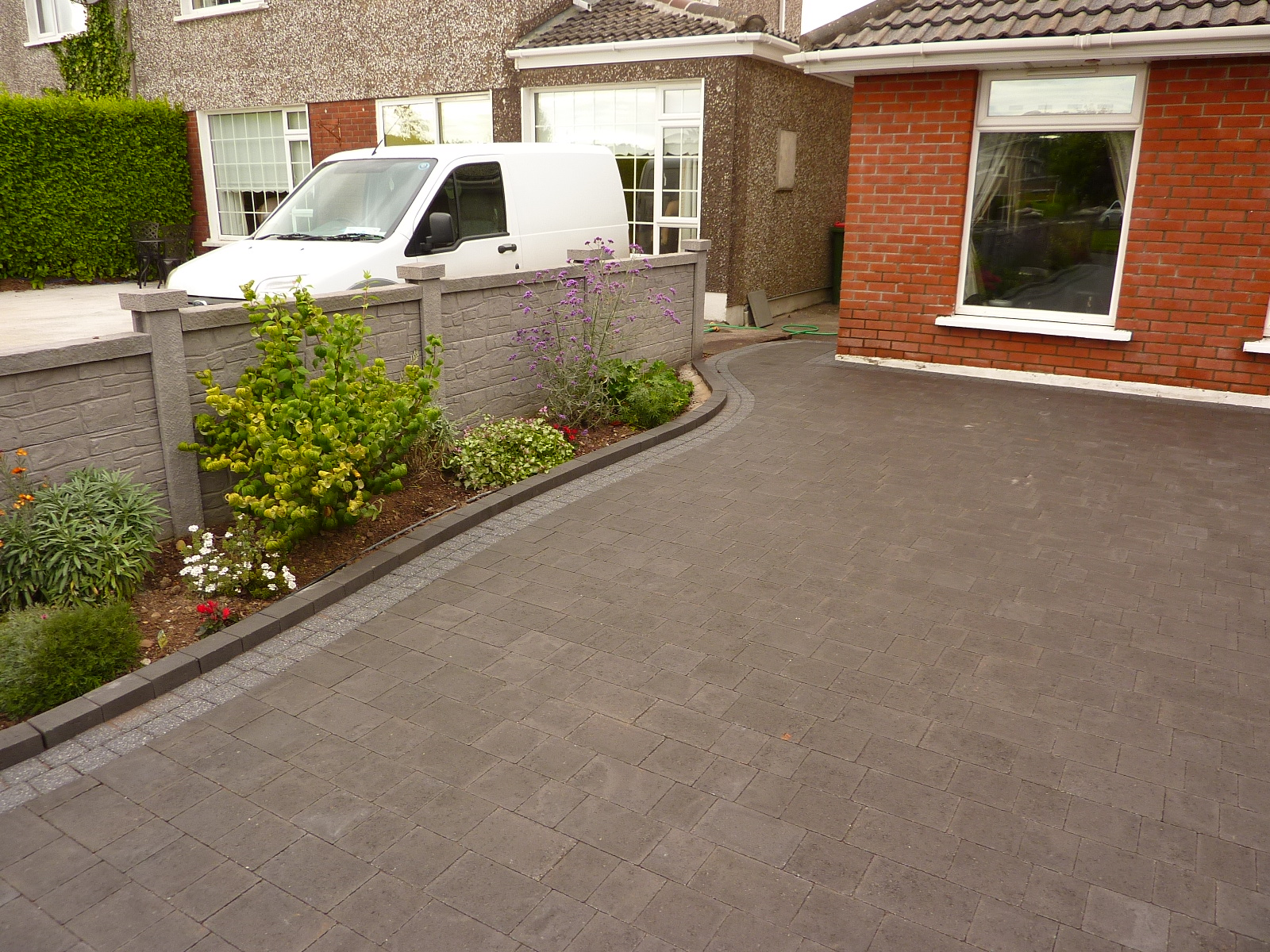 Paved Driveway With Raised Bed Paving For You