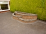Paved Driveway With Raised Bed